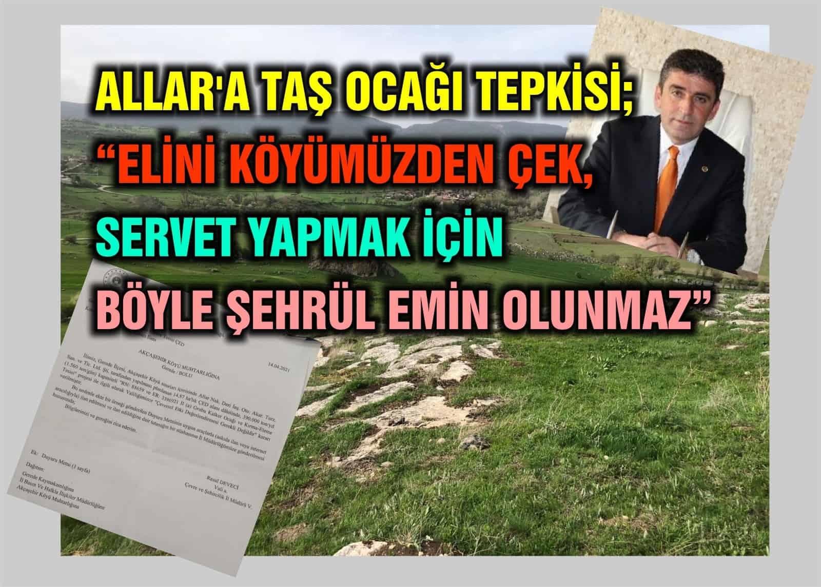 """MHP'li Kazan Belediye Meclis üyesinden tepki; """"elini köyümüzden çek!"""""""