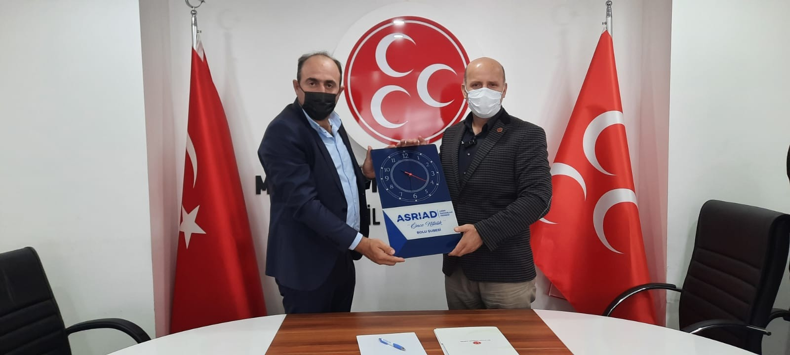 ASRIN İŞ ADAMLARI DERNEĞİNDEN MHP'YE ZİYARET